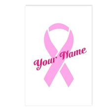 Custom Pink Ribbon Postcards (Package of 8)
