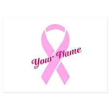 Custom Pink Ribbon Invitations
