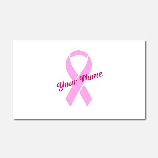 Custom Pink Ribbon Car Magnet 20 x 12