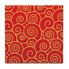 Decorative - Art - Swirls Tile Coaster