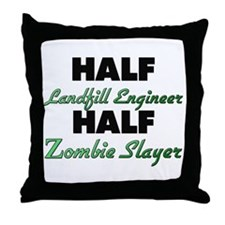 Half Landfill Engineer Half Zombie Slayer Throw Pi
