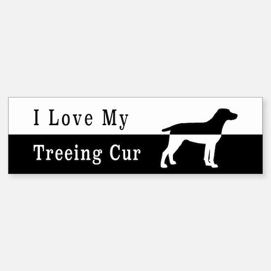 Treeing Cur Bumper Bumper Bumper Sticker