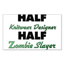 Half Knitwear Designer Half Zombie Slayer Decal