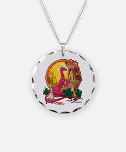St.George and the Dragon Necklace
