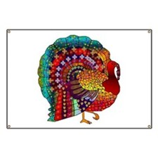 Thanksgiving Jeweled Turkey Banner