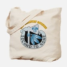 DUI - 2nd Infantry Division with Text Tote Bag