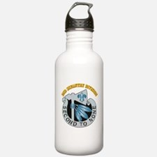 DUI - 2nd Infantry Division with Text Water Bottle
