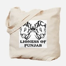 LIONESS OF PUNJAB Tote Bag