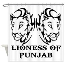 LIONESS OF PUNJAB Shower Curtain