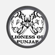 LIONESS OF PUNJAB Wall Clock