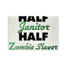 Half Janitor Half Zombie Slayer Magnets