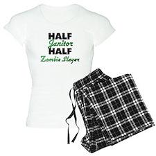 Half Janitor Half Zombie Slayer Pajamas