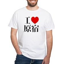 I heart HARAJUKU White Heavy/Beefy T-Shirt