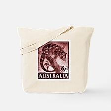 Vintage 1959 Australia Tiger Cat Postage Stamp Tot