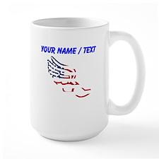Custom American Flag Running Shoe Mugs
