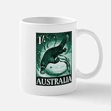 Vintage 1959 Australia Platypus Postage Stamp Mugs