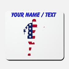 Custom American Flag Runner Mousepad