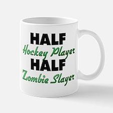 Half Hockey Player Half Zombie Slayer Mugs