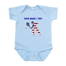 Custom American Flag Tennis Player Body Suit