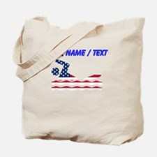 Custom American Flag Swimmer Tote Bag