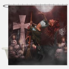 Little Witch 2 Shower Curtain