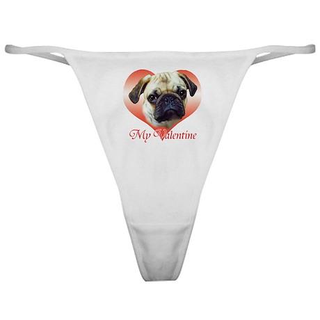 Pug Valentine Classic Thong