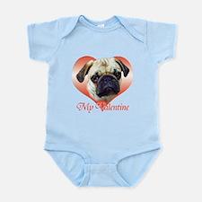 Pug Valentine Infant Bodysuit