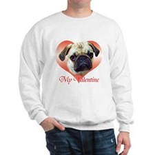 Pug Valentine Sweatshirt