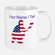 Custom American Flag Baseball Catcher Mugs