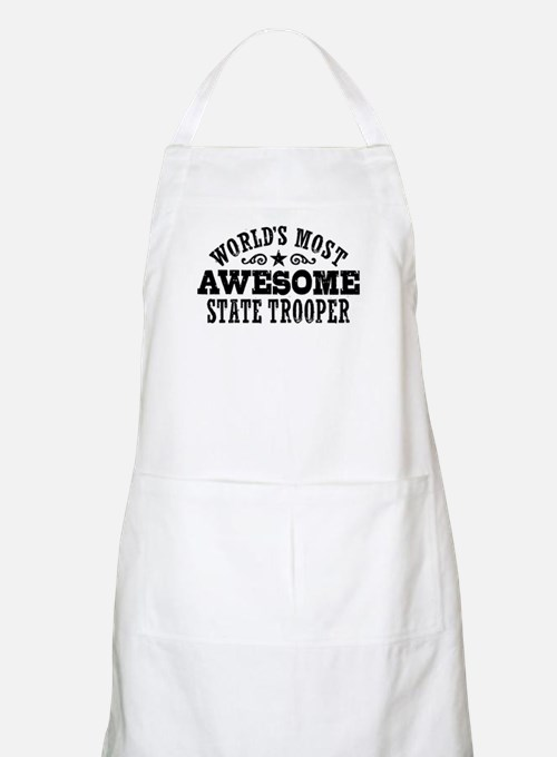 World's Most Awesome State Trooper Apron