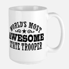 World's Most Awesome State Trooper Large Mug