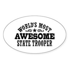 World's Most Awesome State Trooper Decal