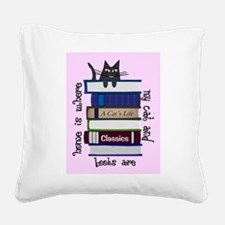 Cat Lover Square Canvas Pillow