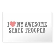 I Love My Awesome State Trooper Decal