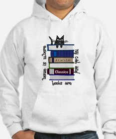 Home is where cat and books are Hoodie