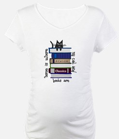 Home is where cat and books are Shirt