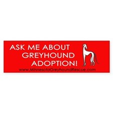 Ask Me About Greyhound Adopti Bumper Stickers