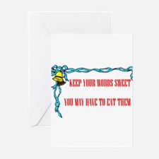 SWEET WORDS Greeting Cards (Pk of 10)
