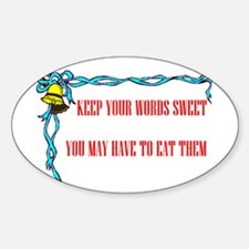 SWEET WORDS Oval Decal
