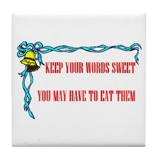 SWEET WORDS Tile Coaster