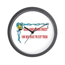 SWEET WORDS Wall Clock