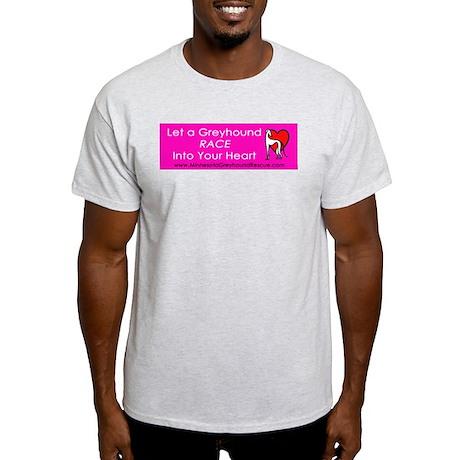 Race Into Your Heart Ash Grey T-Shirt