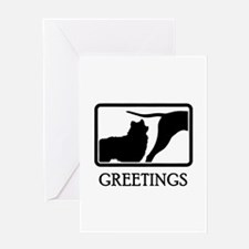 American Eskimo Greeting Card