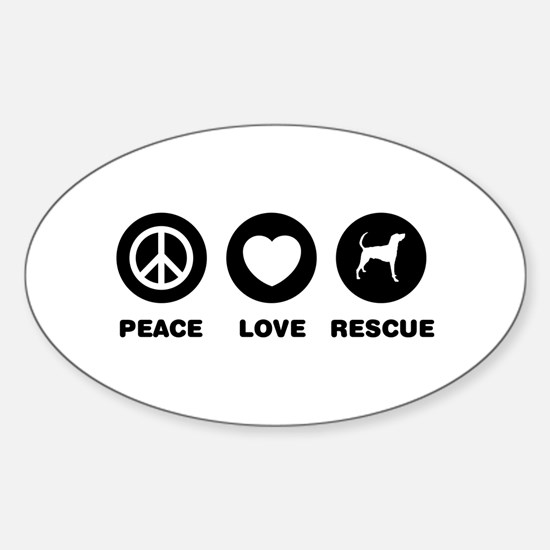 American Foxhound Sticker (Oval)