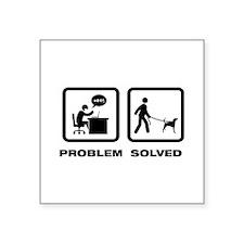 """American Foxhound Square Sticker 3"""" x 3"""""""