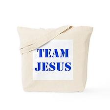 Blue Team Jesus Tote Bag