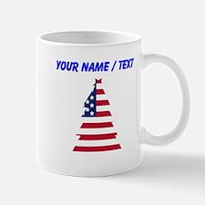 Custom American Flag Christmas Tree Mugs