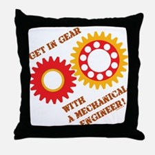 Red Get In Gear Throw Pillow