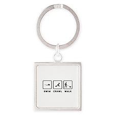 American Lo-Sze Pug Square Keychain