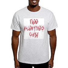 "Anti-Valentine ""Free Candy"" Ash Grey T-Shirt"